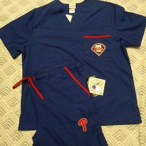 Philadelphia Phillies Licensed Scrubs size S